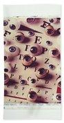 Eyes On Eye Chart Hand Towel