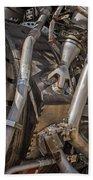 F-1 Rocket Engine Bath Sheet by Allen Sheffield