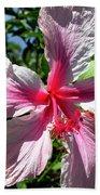 F17 Pink Hibiscus Bath Towel