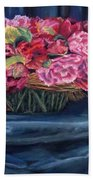 Fabric And Flowers Bath Towel