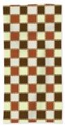 Fabric Design Mushroom Checkerboard Abstract #2 Bath Towel