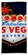 Fabulous Las Vegas Sign Bath Towel