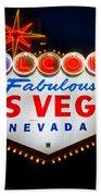 Fabulous Las Vegas Sign Bath Towel