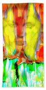 Face In The Flames Bath Towel