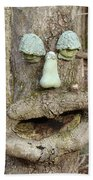 Face In The Woods Bath Towel