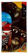 Faces Of Africa Bath Towel