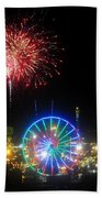 Fair Fireworks Bath Towel