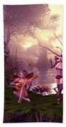 Fairies At A Pond Bath Towel