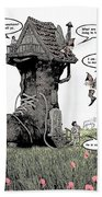 Fairy Comic Illustration 1 Bath Towel
