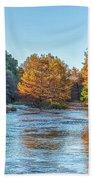 Fall Along The Frio River Bath Towel