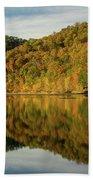 Fall Colors On Lake Reflection Bath Towel