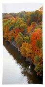 Fall Foliage In Hudson River 6 Bath Towel
