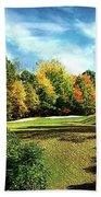 Fall Golf Course Beauty Bath Towel