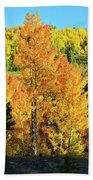 Fall Hillsides Above Dillon Reservoir Bath Towel
