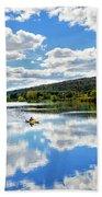 Fall Kayaking Reflection Landscape Bath Towel