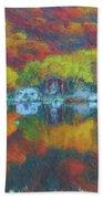 Fall Lake Bath Towel by Harry Warrick