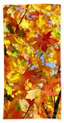 Fall Leaves Background Bath Towel