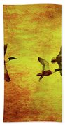 Fall Migration . Northern Shovelers . Texture . 40d5393 Bath Towel