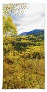 Fall Mountain Scenery Bath Towel