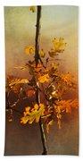 Fall Oak Leaves Bath Towel