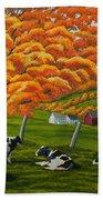 Fall On The Farm Bath Towel