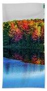 Fall On The Lake In Wisconsin Bath Towel
