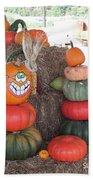 Fall Pumpkins Bath Towel