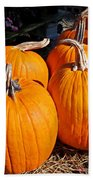 Fall Pumpkins Bath Towel