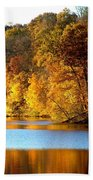 Fall Reflections Of Indiana Bath Towel