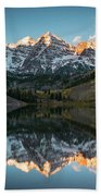 Fall Sunrise At Maroon Bells Hand Towel by James Udall