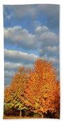 Fall Sunrise On Sugar Maple Along Route 31 Bath Towel