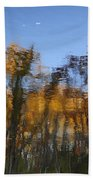 Fall Trees Reflected Bath Towel