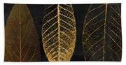 Fallen Gold II Autumn Leaves Bath Towel