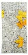 Fallen Leaves Bath Towel