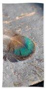 Fallen Peacock Feather Bath Towel