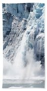 Falling Ice In Alaska Bath Towel