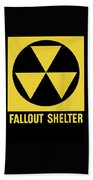 Fallout Shelter Sign Bath Towel