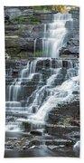 Falls Creek Gorge Trail Ithaca New York Bath Towel