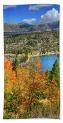Fall's Finery At Rock Creek Lake Bath Sheet