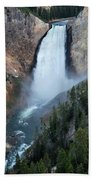 Yellowstone National Park Waterfalls Bath Towel