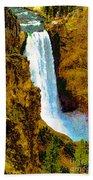 Falls Of The Yellowstone Bath Towel