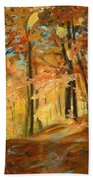 Fall's Radiance In Quebec Bath Towel