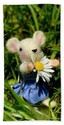 Family Mouse On The Spring Meadow Bath Towel