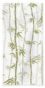 Fancy Japanese Bamboo Watercolor Painting Bath Towel