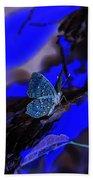 Fantasy Blue Butterfly Bath Towel