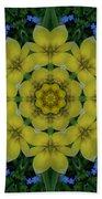 Fantasy Plumeria Decorative Real And Mandala Bath Towel