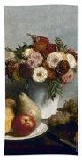 Fantin-latour: Fruits, 1865 Bath Towel