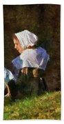 Farm - Farmer - The Young Maidens Bath Towel