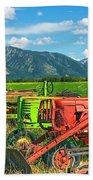 Farm  Art Tractors Bath Towel
