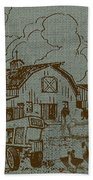 Farm Life-jp3236 Bath Towel